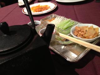 北京ダックの薬味