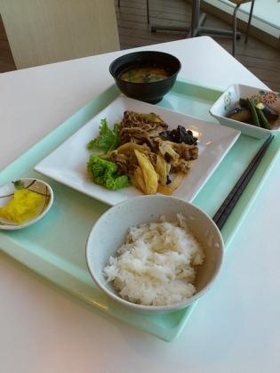 OWL、A定食(牛肉のスタミナ炒め)3