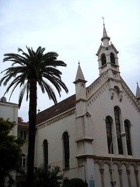 シュロの樹と小さな教会downsize