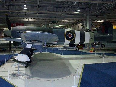 RAF博物館展示のタイフーンの横顔downsize