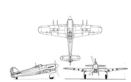 タイフーン初期型の三面図縮尺スケール