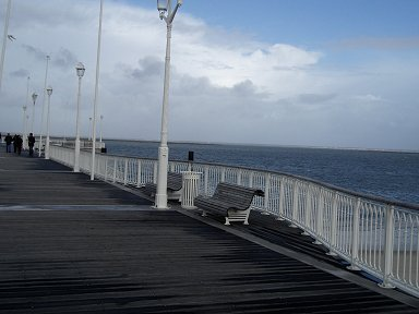 A4とうとう嵐が来ました歩くのもままならないほど風に揺れる桟橋