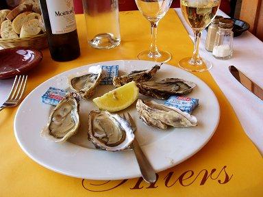 B2やはりワインと牡蠣で前菜downsize