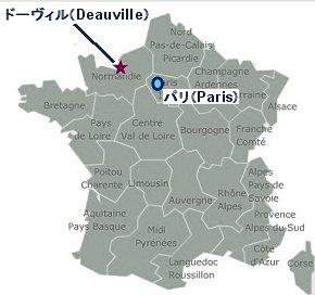 ドーヴィルの地図
