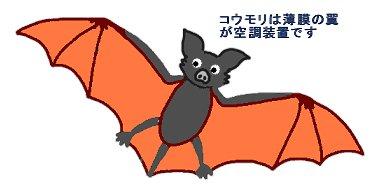 コウモリの翼は空調機