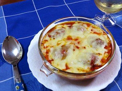 ミートボールのトマト煮チーズ入りの出来上がりdownsize
