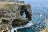万座毛(象の鼻のような岩)