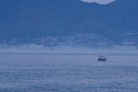 三原の町と海霧