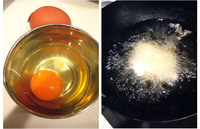 揚げ卵をつくって