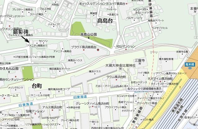 高島台地図