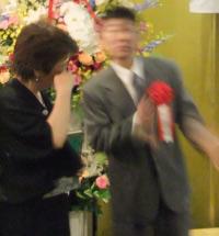 明石洋子さん祝賀会_てっちゃんソング_洋子さん感涙