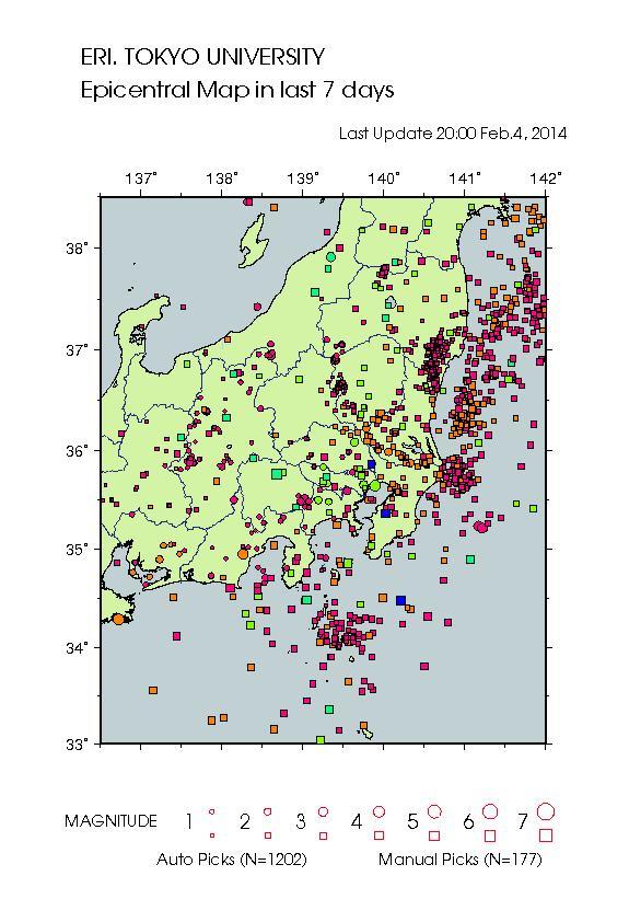 地震活動 2月4日