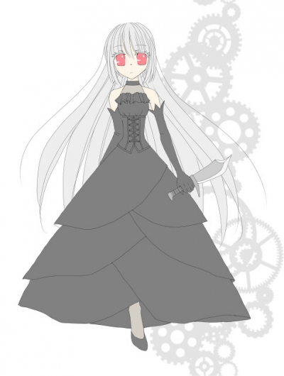 銀髪姫様。