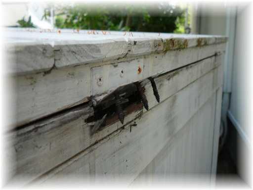20130916屋外ゴミ箱修理
