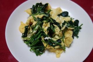 ほうれん草の卵炒め0911