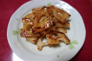 れんこんの甘酢炒め0919