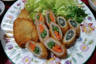 野菜の肉巻きフライ1001