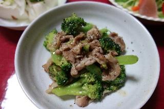 豚肉とブロッコリーの炒めもの1003