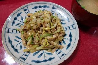 白菜と豚肉131010