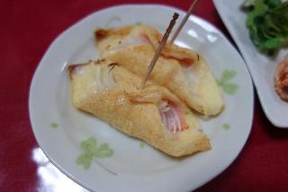 油揚げのハムチーズ巻1104