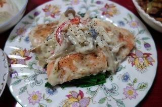 鮭のクリーム煮1113