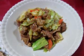 豚肉とキャベツの味噌炒め1113