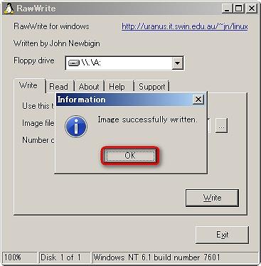 WindowsXPサポート終了対策 パソコンを買い換える前に RawWrite for WindowsでPlop Boot ManagerのImgファイル書き込み