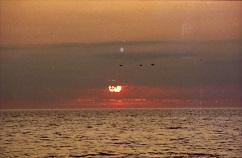岩尾別海岸の夕陽