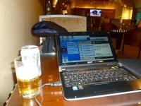 桃園空港MORE貴賓室でビール131211