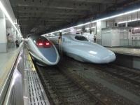 博多駅にて500系とN700系131213