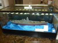 鹿屋基地史料館入口にある戦艦大和模型131214