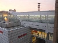 ホテルの部屋から九州新幹線を見下ろせます131215