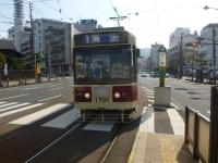 出島で長崎市電に乗る131215