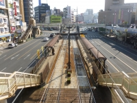長崎市電長崎駅前全景131215