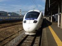 長崎駅にて885系博多行き131215