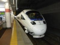 特急かもめ博多駅到着131215