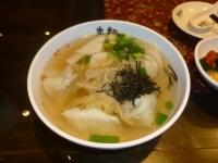 朱記餡餅粥の菜肉餛飩湯131220