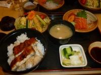京都屋の刺身ウナギ定食131231
