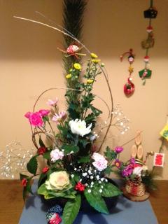 正月用花(自宅)