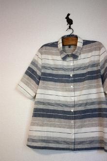 ボーダーAラインシャツ
