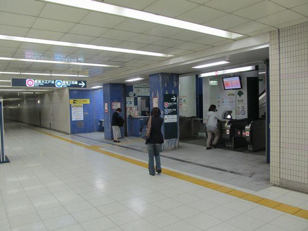 後楽園駅・春日駅地下4階にある東京メトロ・都営地下鉄連絡改札口