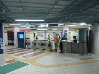 後楽園駅地下1階の東京メトロ南北線改札口