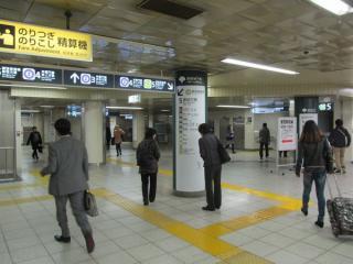 地下3階の改札口コンコースも両者間の壁が撤去された。