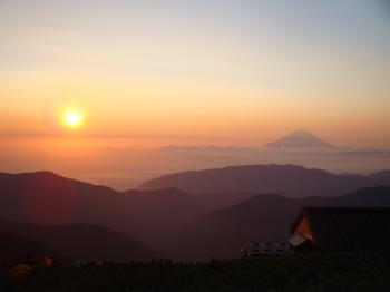 北岳より富士山