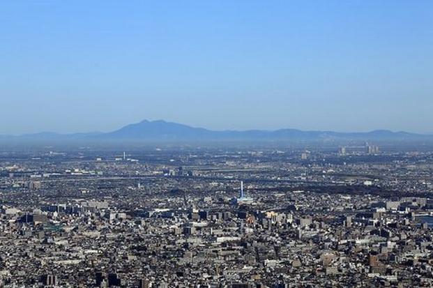 2013-11-4東京スカイツリーから見た筑波山方面2012-11月のモノ