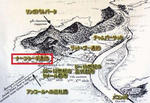 2014-1-10ラオスのワットプー遺跡全体図