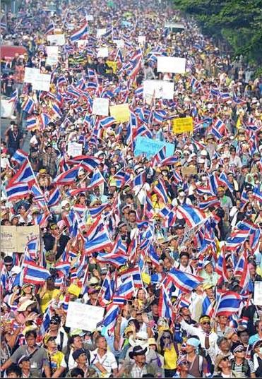 2014-1-11タイの反政府デモ12月9日