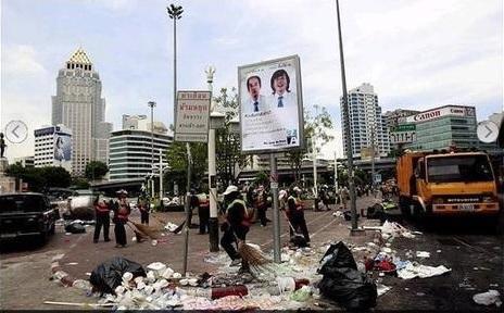 2014-1-11タイのタクシン派デモの傷跡2010年5月