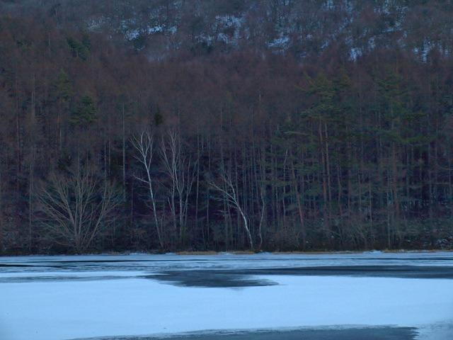 20131216御射鹿池も凍結 (3)