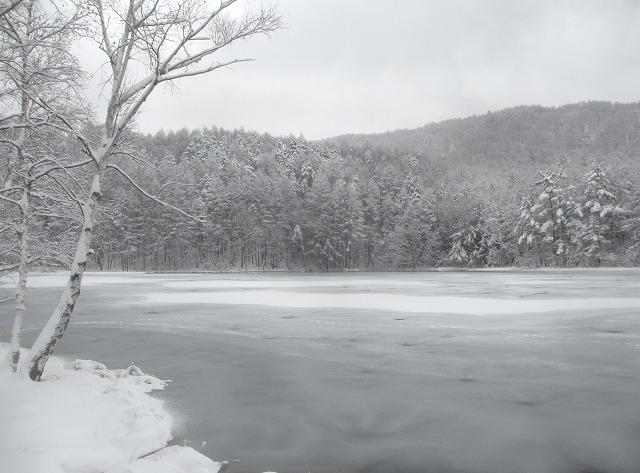 20131220御射鹿池と3号カーブの雪情報 (8)